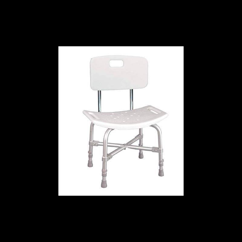 Deluxe Bariatric Shower Chair - w/Cross Frame Brace & Knock Down Back