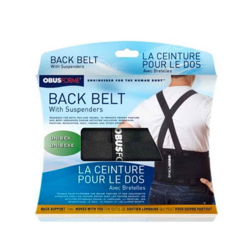ObusForme Back Belt w/Suspenders (Unisex) - Large to X-Large