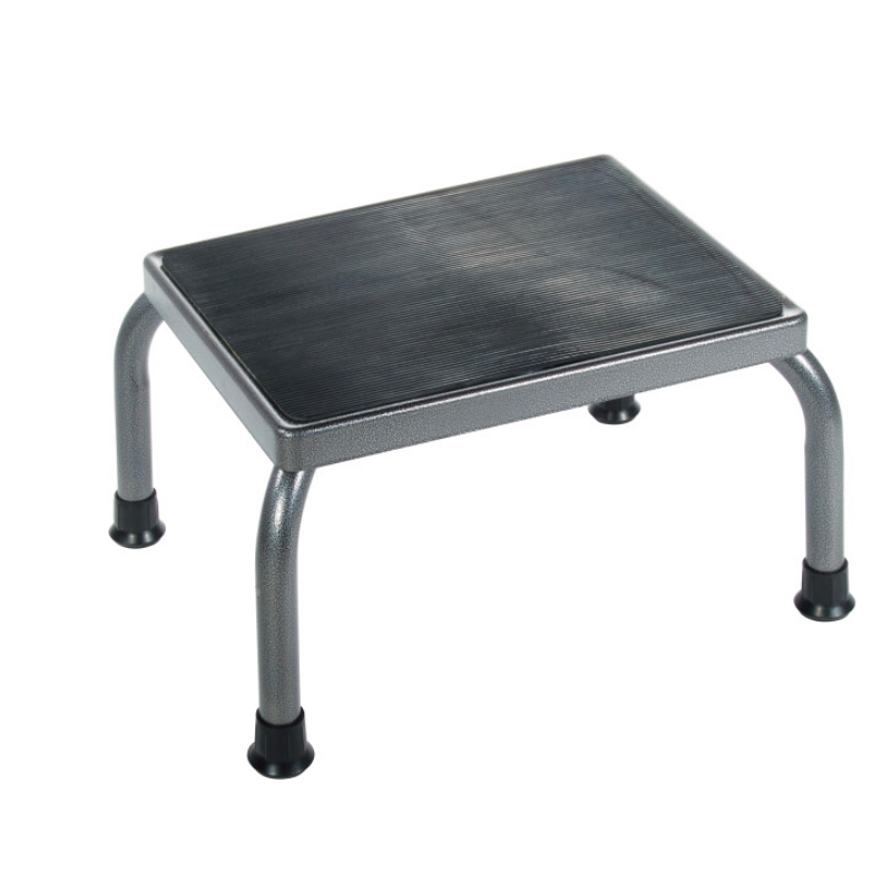 Footstool with Non Skid Rubber Platform (Silver Vein)