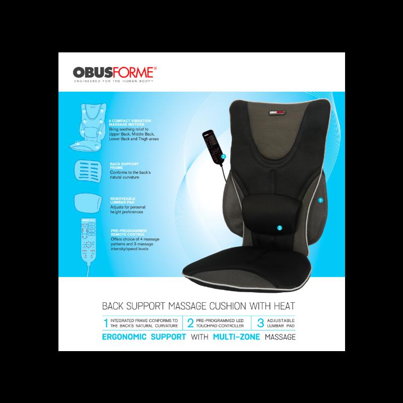 Obus Forme Driver's Seat w/ Heat & Massage