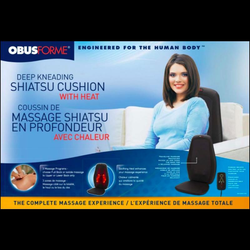 Obus Forme Shiatsu Massage Seat w/ Heat