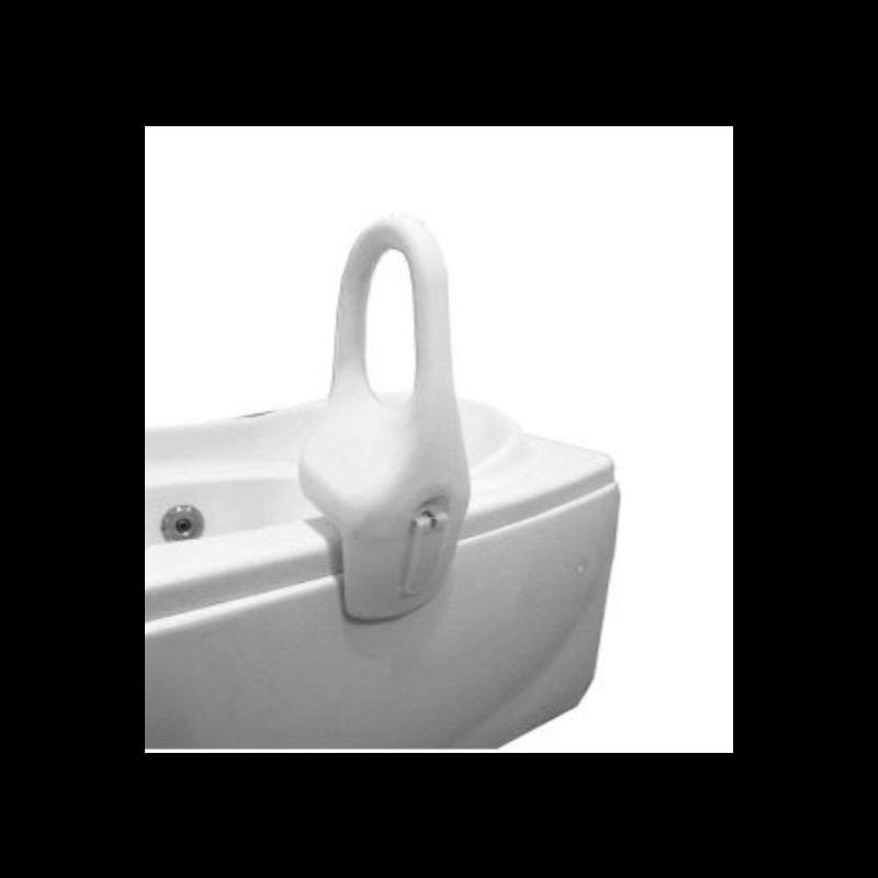 "EZee Life Plastic Tub Rail - Clamp-on, 12"", White"