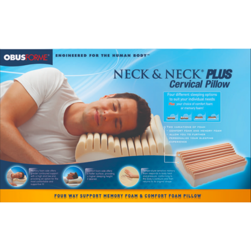 ObusForme Neck and Neck Plus Cervical Pillow