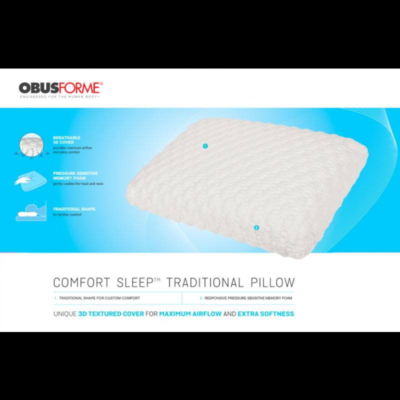 ObusForme Comfort Sleep Traditional Pillow