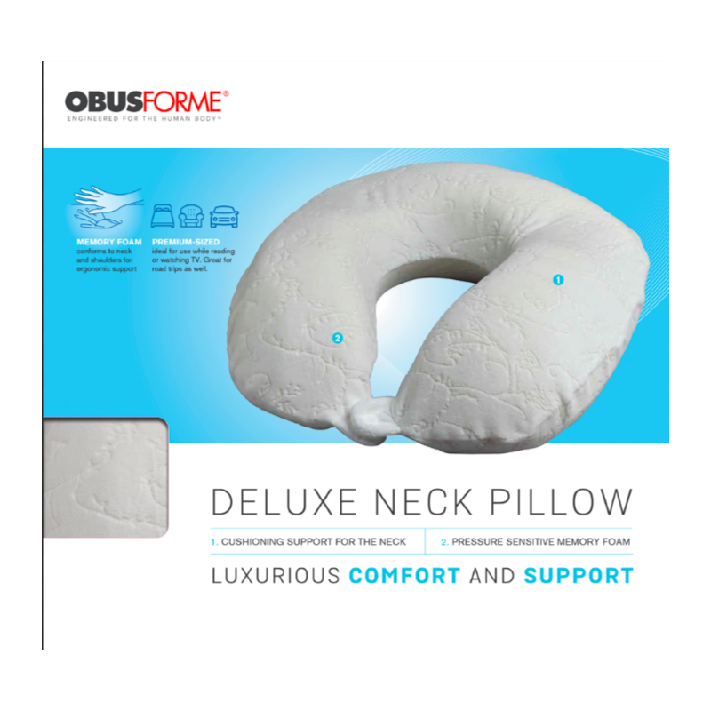 ObusForme Deluxe Memory Foam Travel Neck Pillow