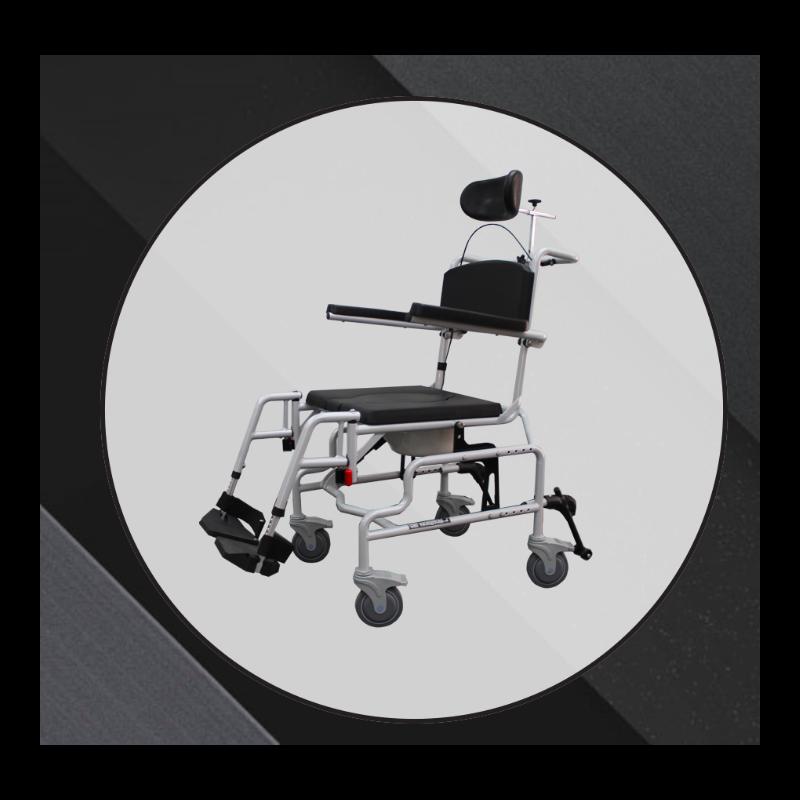 """Horizon 2 Bariatric Commode Wheelchair - 20""""x18"""""""