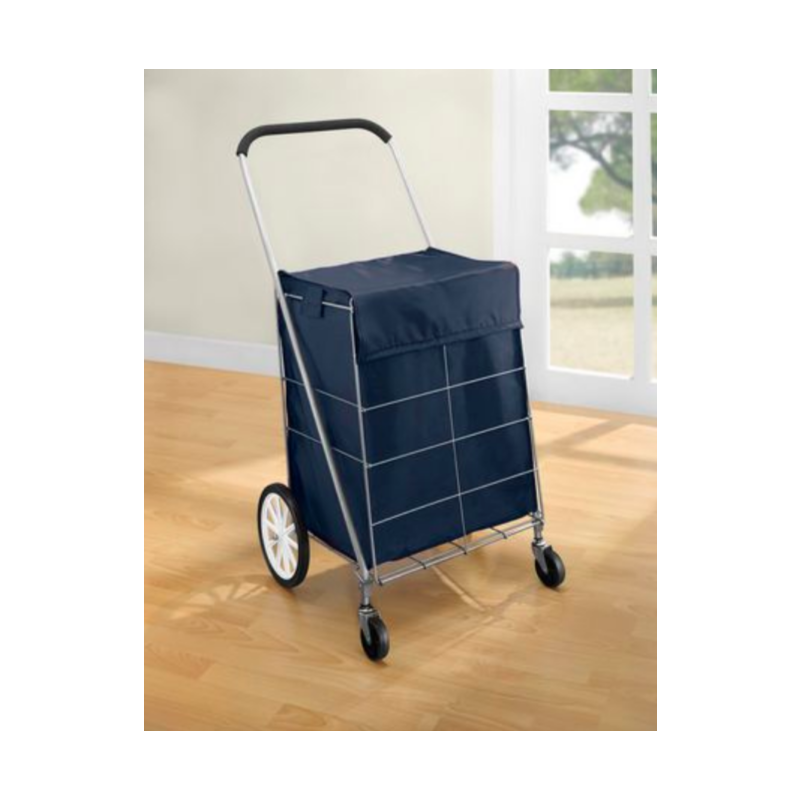 Mainstays 4 Wheel Shopping/Laundry Cart with Bag
