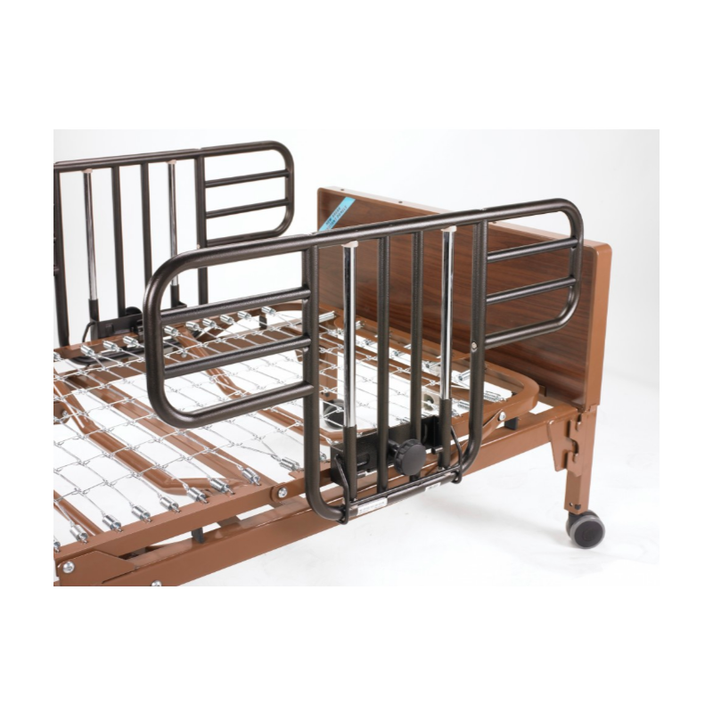 Half-Length Bed Rail (1 pair) - No-Gap Style w/Brown Vein Finish