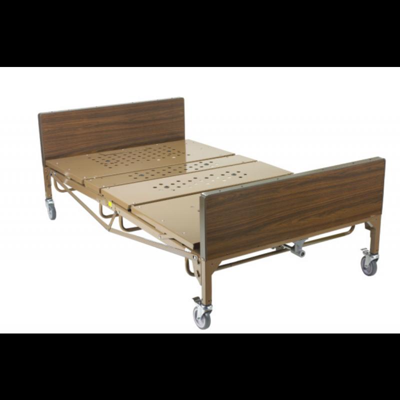 """Full-Electric Bariatric Hospital Bed - 48""""x80"""", w/1 pair T- Rails, Foam Mattress"""