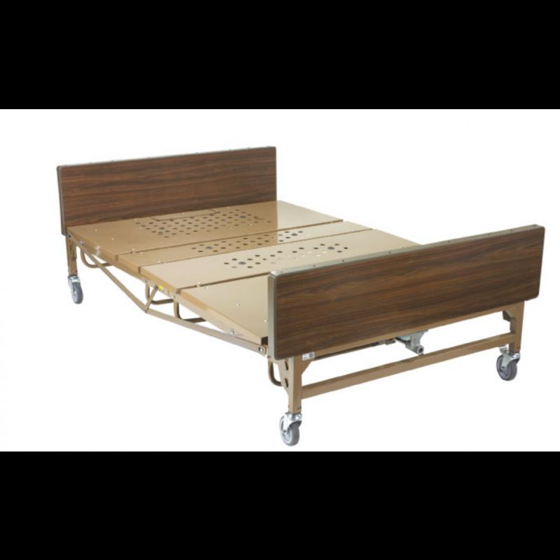 "Full-Electric Bariatric Bed - 54""Wx88""L, W/1 pair T-rails"