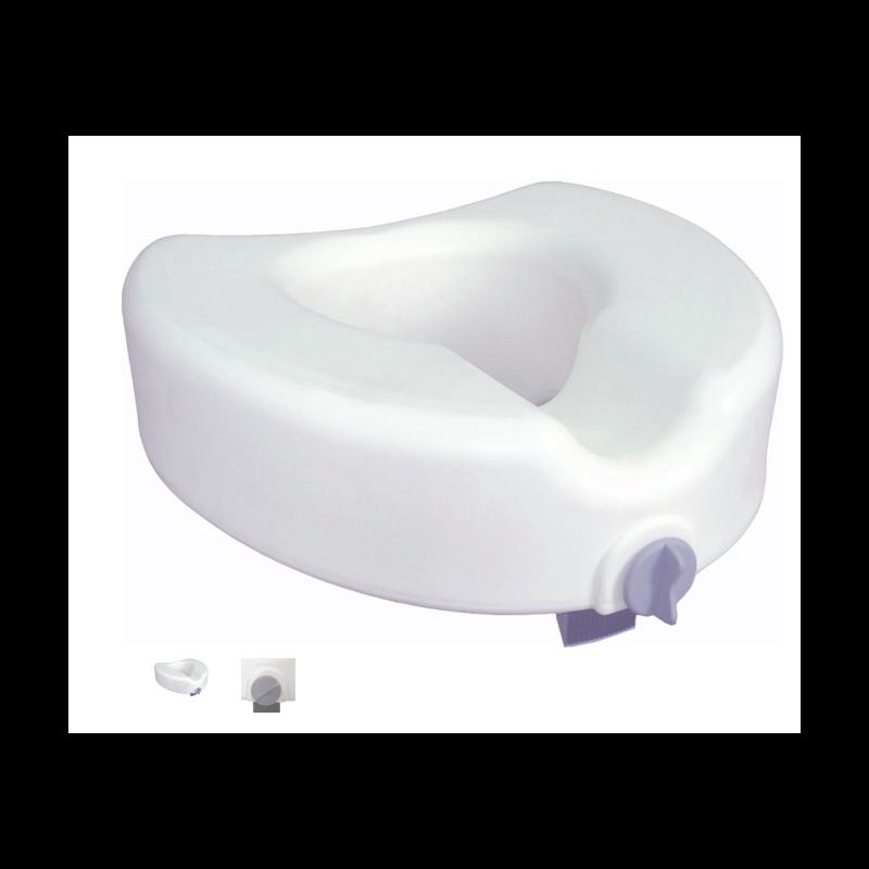 """Premium Plastic 4.5"""" Raised Toilet Seat - Elongated w/Lock, No Arms"""